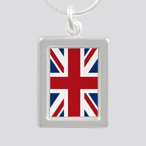 union-jack_18x12-5 Silver Portrait Necklace