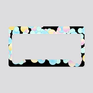 Pretty Bubble Black License Plate Holder