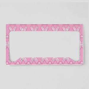 PinkHopeRibLaptopSPk License Plate Holder