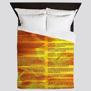 A World With CRPS - Memo Style 17 x 24 Queen Duvet