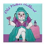 Bulldog Mother Hubbard Tile Coaster