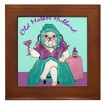 Bulldog Mother Hubbard Framed Tile