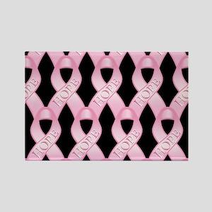 PinkHopeRibPmpB Rectangle Magnet