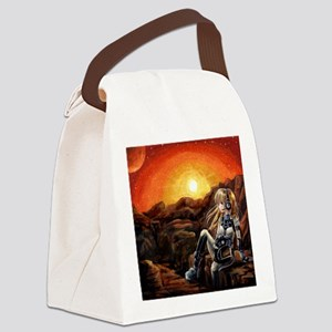Music From Mars Canvas Lunch Bag