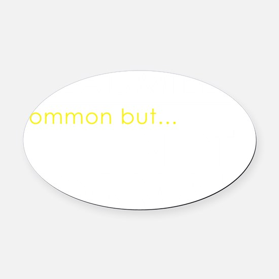 Treadmills, common but not normal Oval Car Magnet