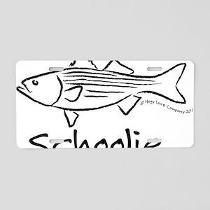 schoolieblack Aluminum License Plate