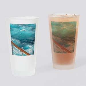 CruiseShipWake Drinking Glass