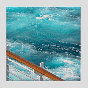 CruiseShipWake Tile Coaster