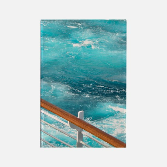CruiseShipWake Rectangle Magnet
