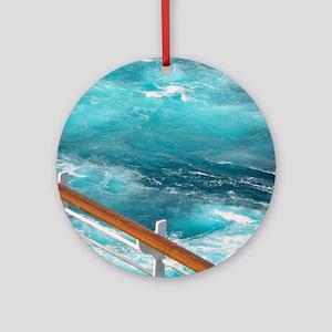 CruiseShipWake Round Ornament