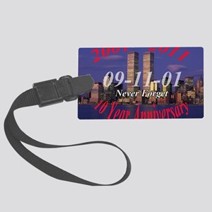 10 year anni wtc Large Luggage Tag