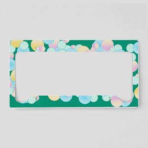 Pretty Bubbles Green License Plate Holder