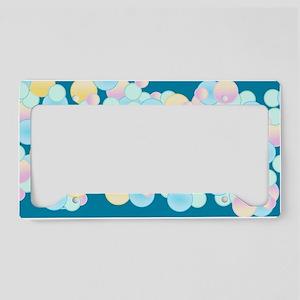 Pretty Bubble Blue License Plate Holder