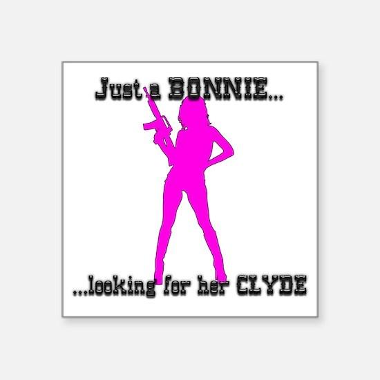 """JustBonnie Square Sticker 3"""" x 3"""""""