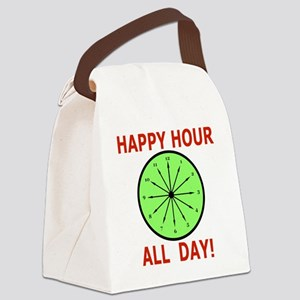 Shot Glass Funny, Humor Happy Hou Canvas Lunch Bag