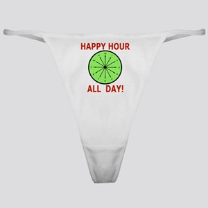 Shot Glass Funny, Humor Happy Hour Classic Thong