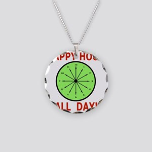 Shot Glass Funny, Humor Happ Necklace Circle Charm