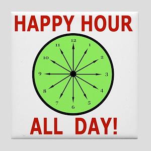Shot Glass Funny, Humor Happy Hour Tile Coaster