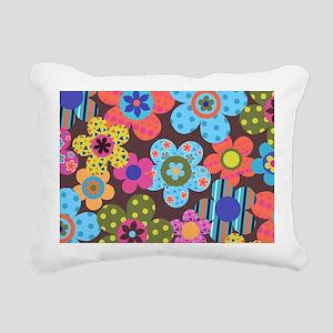 Retro Flowers Bags Rectangular Canvas Pillow