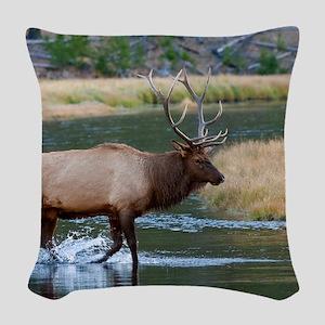 Elk (19) Woven Throw Pillow