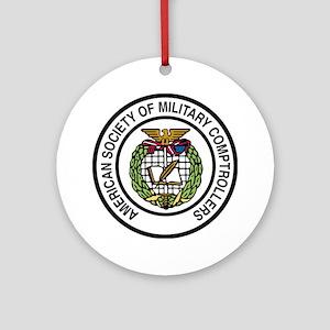 ASMC color logo hi Round Ornament