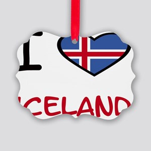 i heart maps iceland Picture Ornament