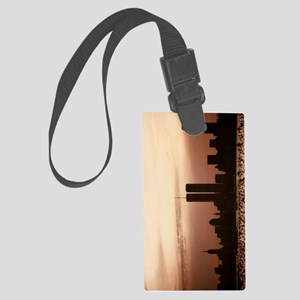 DawnOverLiberty_P Large Luggage Tag