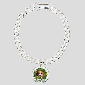Merry Christmas Brittany Charm Bracelet, One Charm