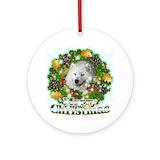 Samoyed christmas Round Ornaments
