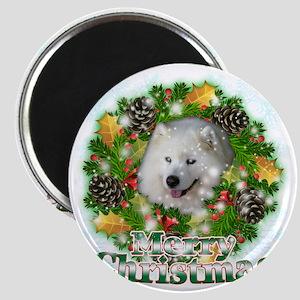 Merry Christmas Samoyed Magnet
