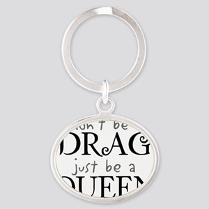 dragqueen Oval Keychain