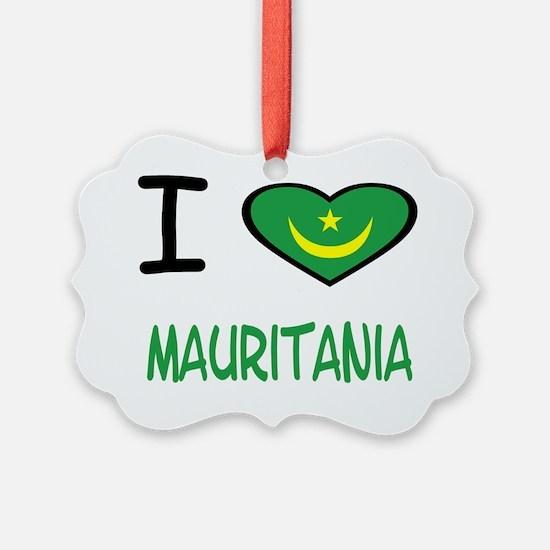 i heart mauritania Ornament