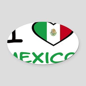 i heart mexico Oval Car Magnet