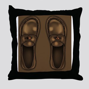 penny-loafers-FF Throw Pillow