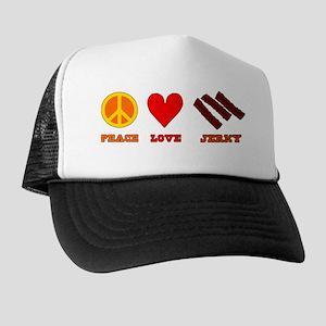 Peace Love Jerky Trucker Hat