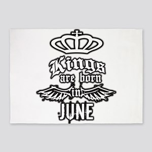 king are born in june 5'x7'Area Rug