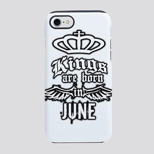 king are born in june iPhone 7 Tough Case