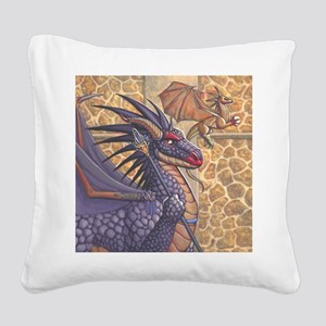 ravenwing_button Square Canvas Pillow