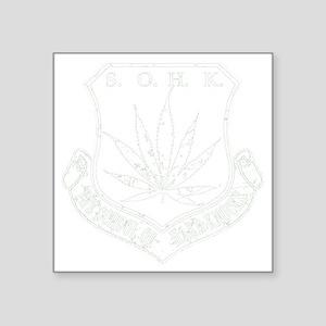 "SOHK Weed White Distressed Square Sticker 3"" x 3"""