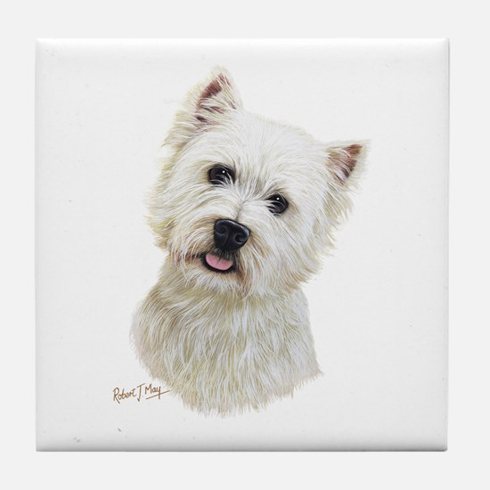West Highland White Terrier Tile Coaster