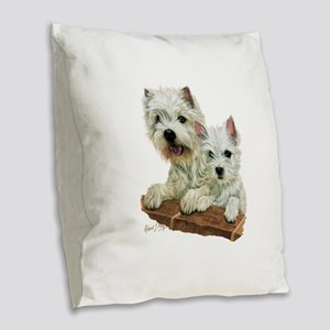 West Highland White Terrier Burlap Throw Pillow