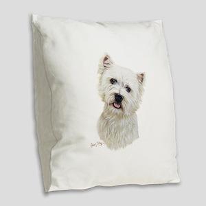 West Highland White Terrier Burlap Throw Pillow