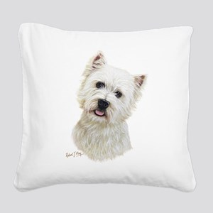 West Highland White Terrier Square Canvas Pillow