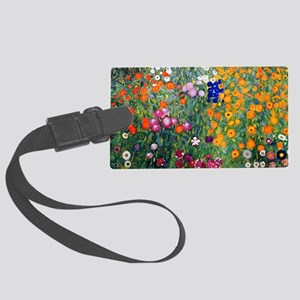 Klimt Flowers Beach Large Luggage Tag