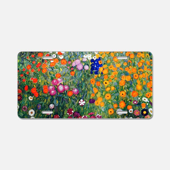 Klimt Flowers Beach Aluminum License Plate