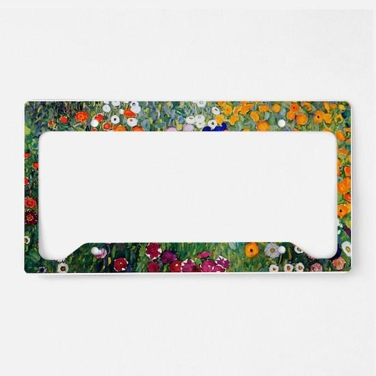 Klimt Flowers Beach License Plate Holder