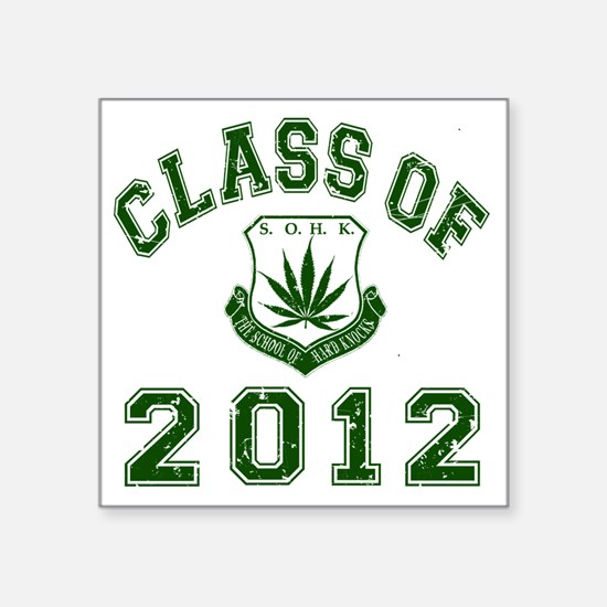 "CO2012 SOHK Weed Green Dist Square Sticker 3"" x 3"""