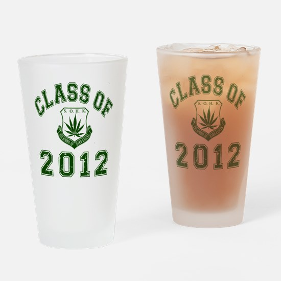 CO2012 SOHK Weed Green Distressed Drinking Glass
