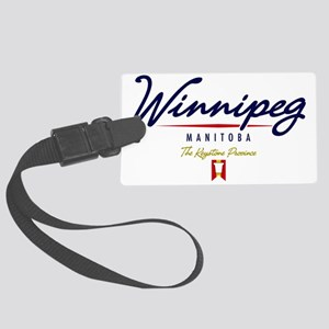 Winnipeg Script W Large Luggage Tag