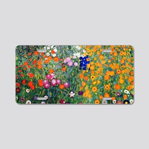 Klimt Flowers Toiletry Aluminum License Plate